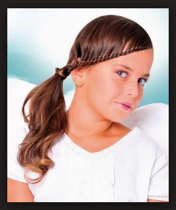 Hairstyles 2017 For School : Beautiful Blonde Hair with Flip Tail Hairstyle