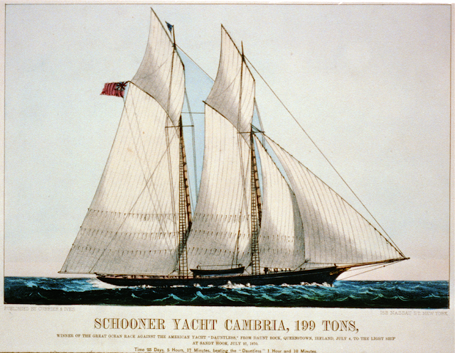 Currier & Ives The Schooner Cambria