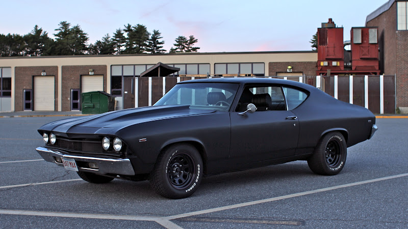 Satin Black Paint Chevelle Tech
