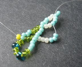 Seed Bead Netting Stitch