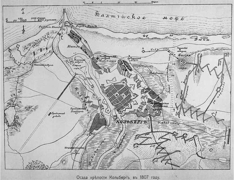 Крепость Кольберг в 1807 году