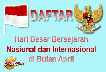 Daftar Hari Besar Bersejarah Nasional Internasional dibulan April