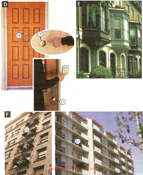 Apartments and Houses - Place to live - Housing - Photo Dictionary