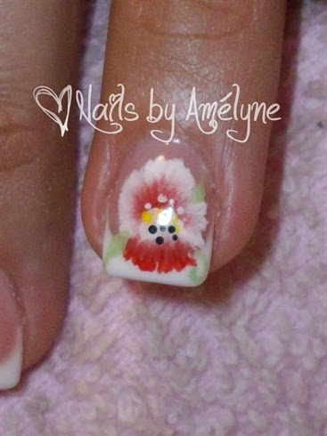Hand Painted One Stroke Flower