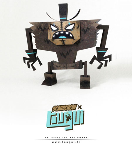 Tougui Scarcrow Paper Toy