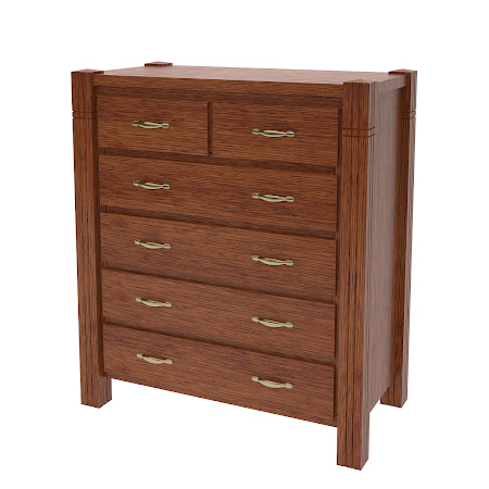 Phoenix Vertical Dresser, Washington Quarter Sawn Oak