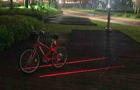 Impresionante carril virtual para bicicletas