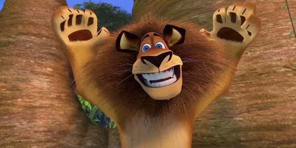 Screen Shot Of Hollywood Movie Madagascar (2005) In Hindi English Full Movie Free Download And Watch Online at Alldownloads4u.Com