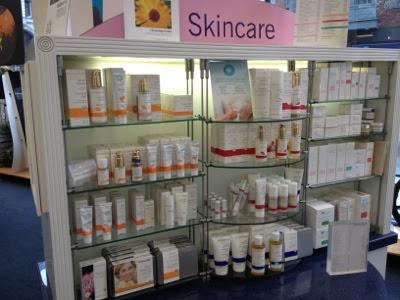 skincare stand