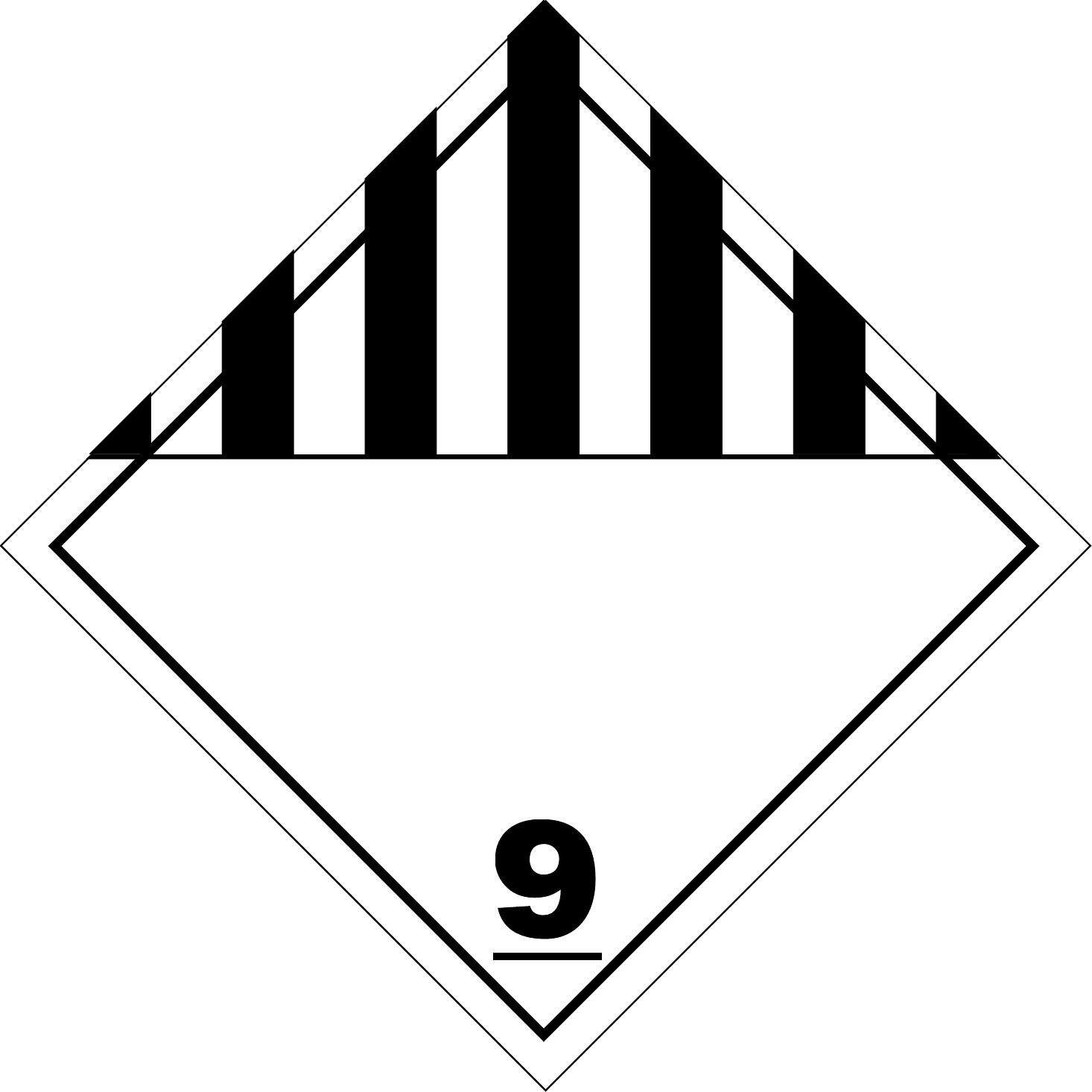 Label (Simbol) Transportasi Bahan (Material) Berbahaya Kelas 9