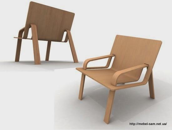 Альтернативный вариант фанерного кресла