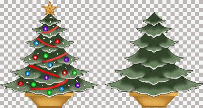 ChristmasTreesInPots~V.jpg