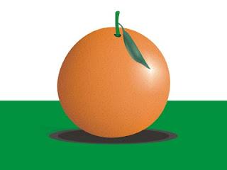 Desenho de uma laranja