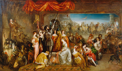 Daniel Maclise - The Chivalric Vow of the Ladies of the Peacock