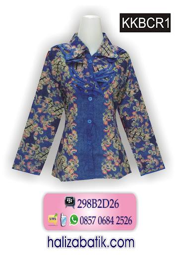contoh gambar batik, busana wanita, blus batik