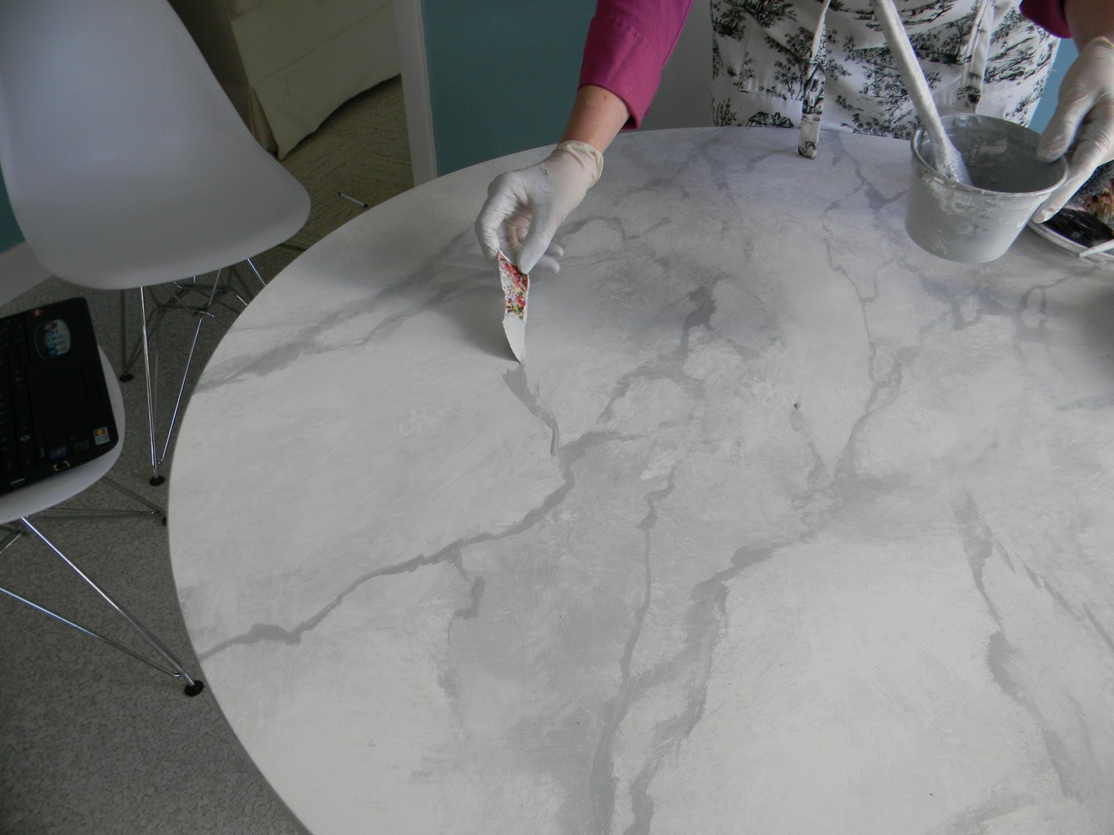 Faux Marble Coffee Table