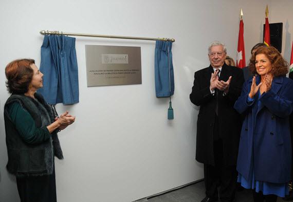 Inaugurada la Biblioteca Mario Vargas Llosa en el Centro Barceló