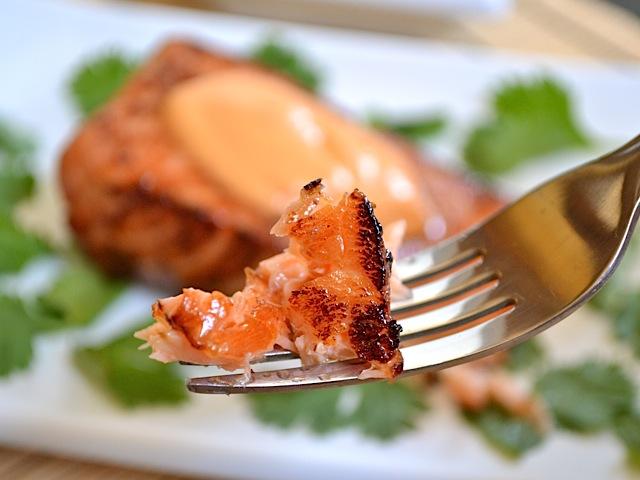 fork teriyaki salmon