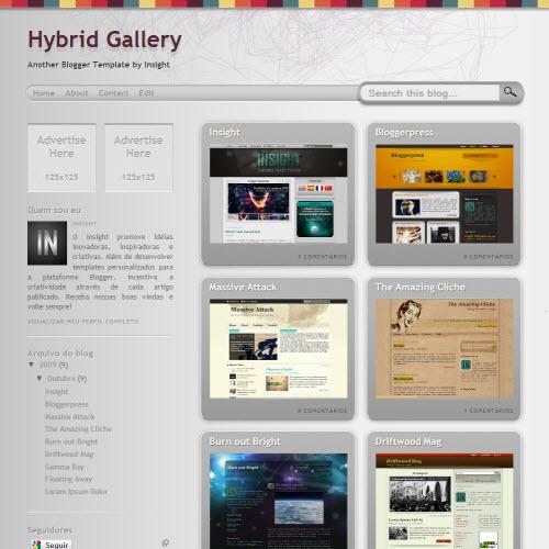 Hybrid Gallery,blogger,Templates for blogger