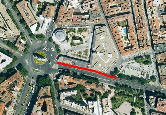 Afección a la circulación de las obras en la Ronda de Toledo