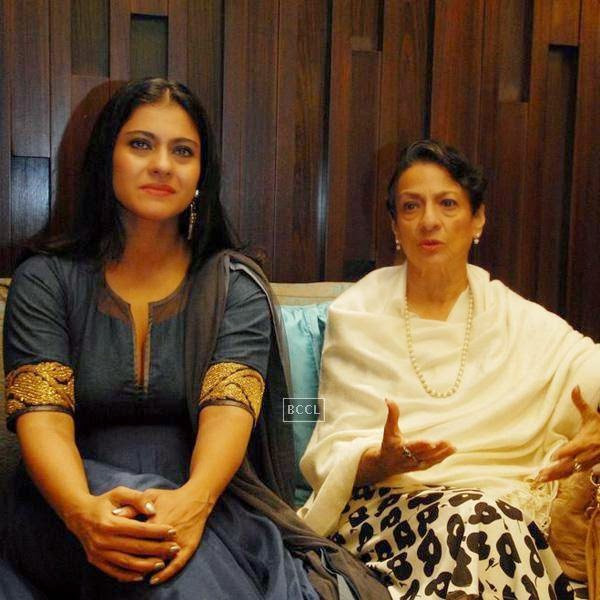 Kajol with her mother Tanuja Mukherjee during a seminar on Breast Cancer awareness, organised by Prashanti Cancer Care Mission, in Pune, on July 24, 2014. (Pic: Viral Bhayani)