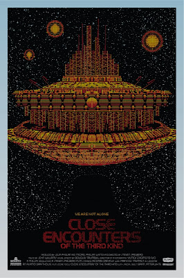 Close Encounters of the Third Kind Variant Orange Edition Screen Print by Todd Slater