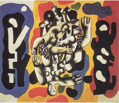 Fernand Léger - Plongeurs sur fond jaune (1941)