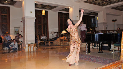 Fascinating belly dance at the hotel