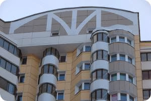 Отделка фасада керамогранитом