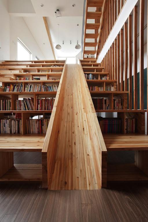*首爾 Moon Hoon 全景六角形建築設計:溜滑梯+樓梯+書櫃強大結合! 1