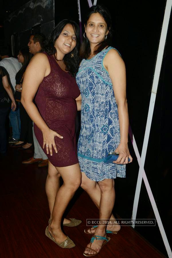 Divya and Jyothi during a party at Illusions, in Chennai.<br />