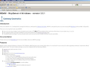 Instal Mapserver for Windows (ms4w)