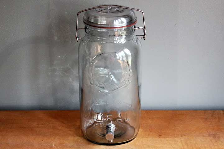 Gallon-sized Ball beverage dispenser available for rent from www.momentarilyyours.com, $8.
