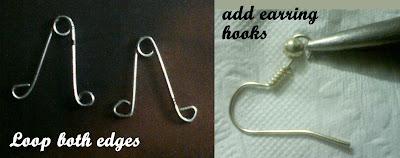safety+pin+dangler+earrings1 Safety Pin Dangler Earrings 5 Minz Tutorial
