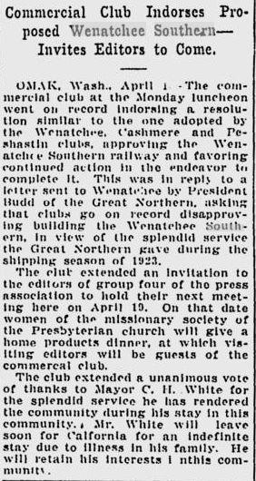 Big Bend Railroad History: April 2011