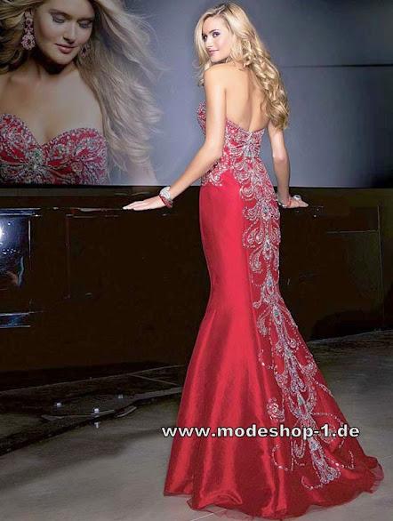 rotes meerjungfrau abendkleid lang mit perlen mode shop nr 1. Black Bedroom Furniture Sets. Home Design Ideas