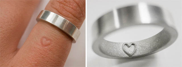 Wedding Ring That Leaves A Heart Imprint Ideas