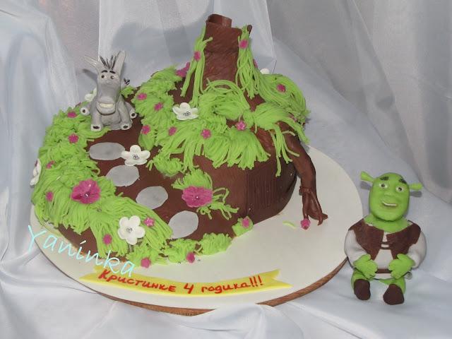 Киевский детский торт фото шрека