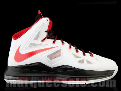 nike lebron 10 gr miami heat home 1 01 First Look: Nike LeBron X Miami Heat Home