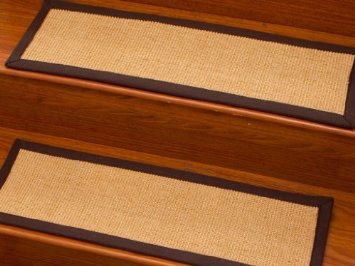 Casual Elegance 9u2033 X 29u2033 Sisal Carpet Stair Treads, Cotton Binding With Two  Attachable Hook And Loop Fastening Strips (Set Of 4) (Matching Custom Rug  ...