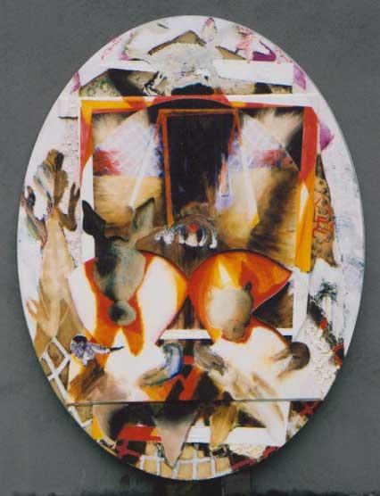 Nachtdieren-Schommel - schilderij van Atelier Bram de Haan