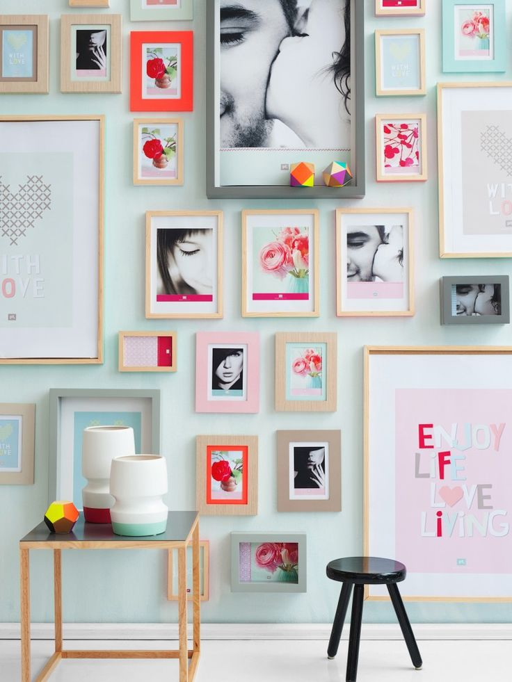Create A Shape Gallery By Your Photography For Living Room Wall
