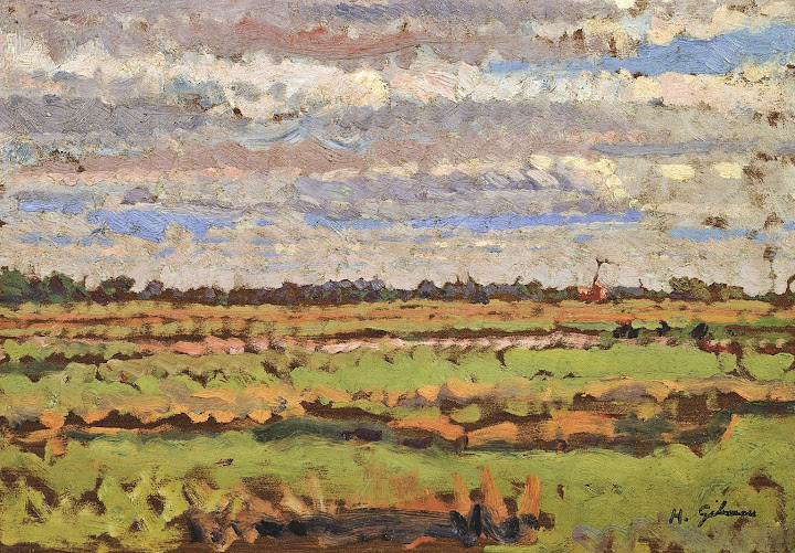 Harold Gilman - Romney Marsh c.1910