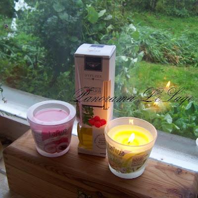 dyfuzer Ogród Zapachów dekoracyjne perfumy do pomieszczeń soczyste liczi biedronka Biedronka świece zapachowe w szkle LaRissa Biała Herbata Imbir Liczi Panorama LeSage
