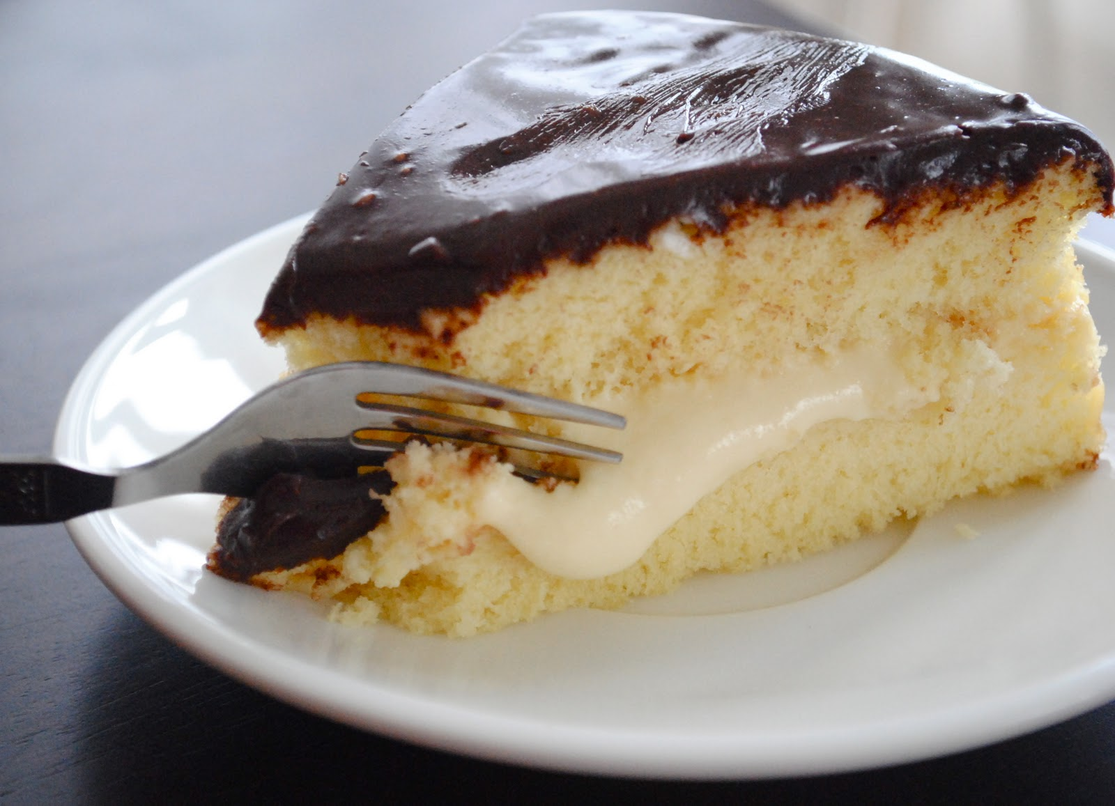 ... to go the rustic route with a delicious creamy Boston Cream Pie