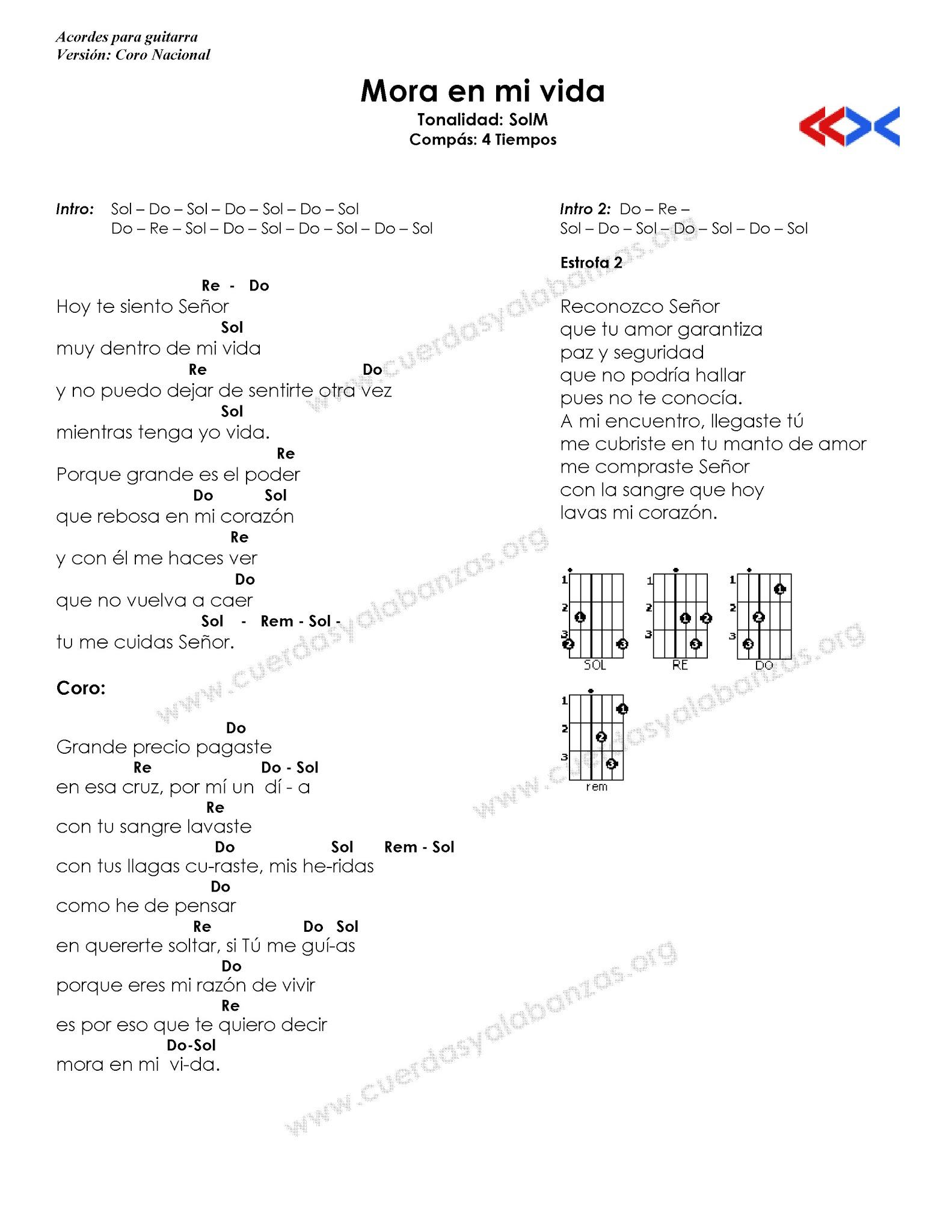 Alabanzas con notas for Tu jardin con enanitos acordes