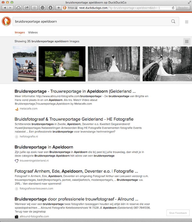 DuckDuckGo ondersteunt zoeken naar afbeeldingen