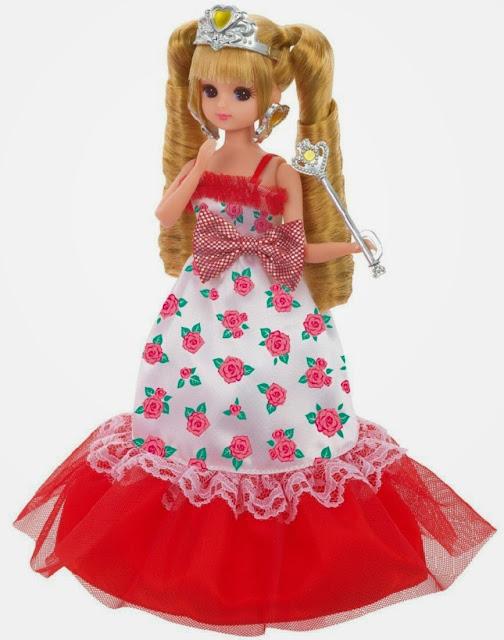 Bộ trang phục Licca LW-15 Flower Princess với những bông hoa xinh xắn trên thân váy