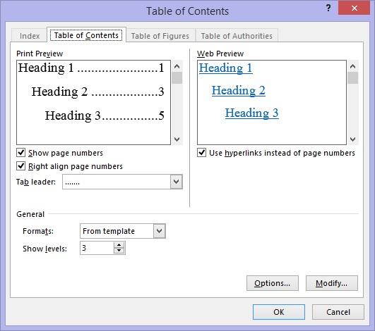 Hướng dẫn tạo mục lục tự động trong microsoft office word 2013