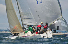 J/24s sailing off Marblehead, MA